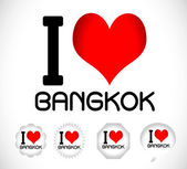 I love Bangkok — Stock Vector