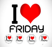 I love Friday — Stock Vector