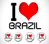 I love Brazil — Vector de stock