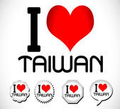 I love Taiwan — Vector de stock