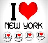 I Love new york — Stock Vector