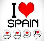 I love Spain — Vector de stock