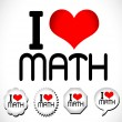 I Love Math — Stock Vector