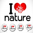 I love nature — Vettoriali Stock