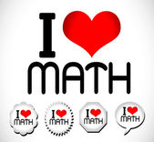 I Love Math — Vector de stock