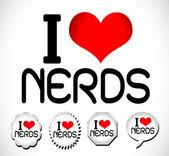 I love nerds — Stock Vector
