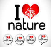 I love nature — Stock Vector