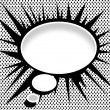 Blank empty speech bubbles — Imagen vectorial