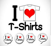 Miluji t košile — Stock vektor