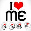 I love me i love my life — Stock Vector