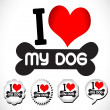 I Love Dog — Image vectorielle
