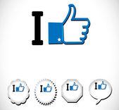 I Like icon — Stock Vector