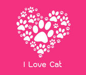 I love cat — Stock Vector