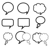 Blank empty speech bubbles — Stock Vector