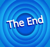 The end Movie screen — Stock Vector
