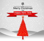 Merry Christmas And Happy New Year Landscape design in Vector work — Stok Vektör