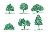 组的向量树的叶子 — 图库矢量图片