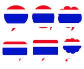 Thailand flag icon design — Stock Vector