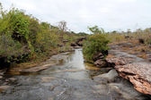 Soi Sawan waterfall.Pha Taem National Park Ubon Ratchathani Thailand. — Stock Photo