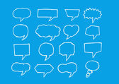 Blank empty speech bubbles — Vetorial Stock