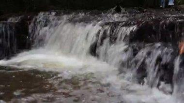 Waterfall at Ubonratchathani Thailand — Stockvideo