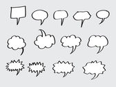 Blank empty speech bubbles — ストックベクタ