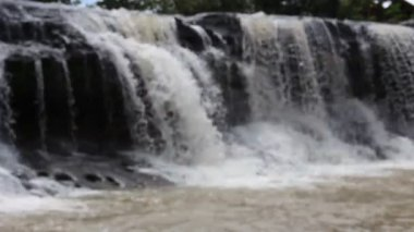Waterfall at Ubonratchathani Thailand — Stock Video