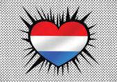 Netherlands Flag — Vetor de Stock