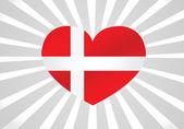 Denmark flag — Stock Vector