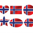 Stock Vector: National flag of Norway