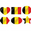 Stock Vector: National flag of Belgium