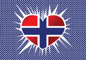 National flag of Norway — Stock Vector