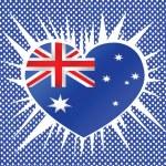 National flag of Australia themes idea design — Stock Vector #38342683