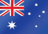 National flag of Australia themes idea design — Stock Vector