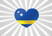 Curacao flag themes idea design — Stock Vector