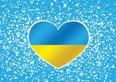 Flagge der Ukraine Themen Idee design — Stockvektor