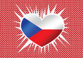 National flag of Czech Republic themes idea design — Stock Vector