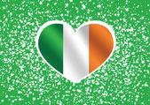 National flag of Ireland themes idea design — Stock Vector