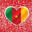 Wektor stockowy : Cameroon flag themes idedesign