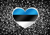 Bandeira nacional de design de idéia de temas de estónia — Vetor de Stock
