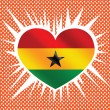 Wektor stockowy : National flag of Ghanthemes idedesign