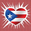 Puerto Rico flag themes idedesign — Stock Vector #38866011