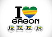National flag of Gabon themes idea design — Stock Vector