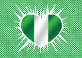 Design de idéia de temas de bandeira de Nigéria — Vetor de Stock