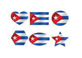 Cuba flag themes idea design — Stock Vector