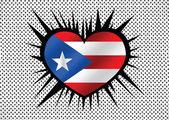 Дизайн идеи темы флаг Пуэрто-Рико — Cтоковый вектор