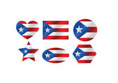 Puerto Rico flag themes idea design — Stock Vector