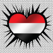 Flag of Yemen themes idedesign — Stok Vektör #38941067