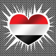 Flag of Yemen themes idedesign — Stok Vektör #38941069