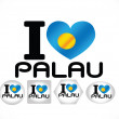 Palau flag themes idedesign — Vector de stock #38941181